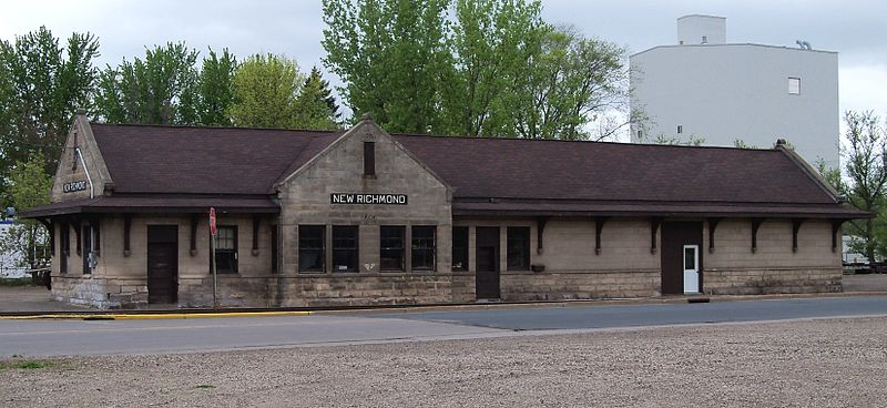 Photo de Soo Line Depot, New Richmond, NRHP88000623