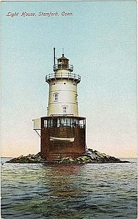 Photo de Stamford Harbor Lighthouse, Stamford, NRHP91000348